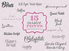 15 Free Cursive Fonts