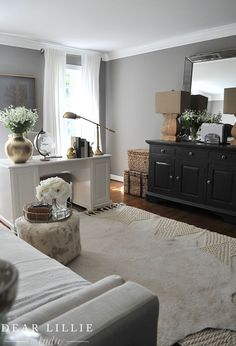 Some Updates to Our Office/Guest Room – Adding a Daybed – Dear Lillie Studio – Office Room Home Office Space, Home Office Design, Home Office Decor, Home Decor, Office Desk, Office Setup, Spare Room Home Office Ideas, Office Organization, Apartment Office