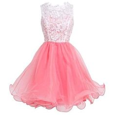 Fashion Plaza Princess Graduation Party Homecoming Dress D0250 ❤ liked on Polyvore featuring dresses, cocktail party dress, going out dresses, pink party dresses, party dresses and graduation dresses