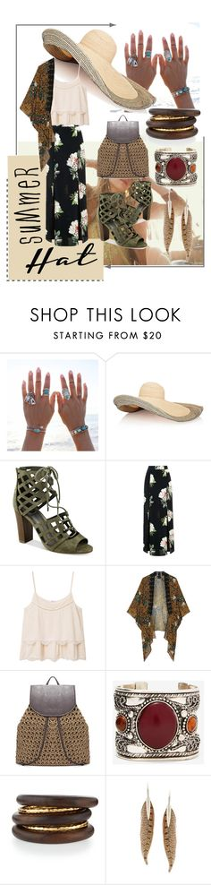 """""""ebony"""" by peachy-bee ❤ liked on Polyvore featuring Vanessa Mooney, Lola, G by Guess, Topshop, MANGO, Anna Sui, NEST Jewelry, Roberto Cavalli and summerhat"""