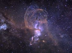 An intriguing and beautiful nebula, NGC 3576 drifts through the Sagittarius arm of our spiral Milky Way Galaxy. Within the region, episodes of star formation are thought to contribute to the complex and suggestive shapes. Powerful winds from the nebula's embedded, young, massive stars shape the looping filaments