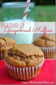 Lightened-Up Gingerbread muffins