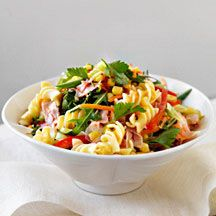Pastasalade met ham en maïs Recept | Weight Watchers Nederland