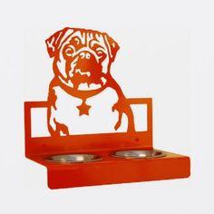 Custom Made Dog Bowl - Pug