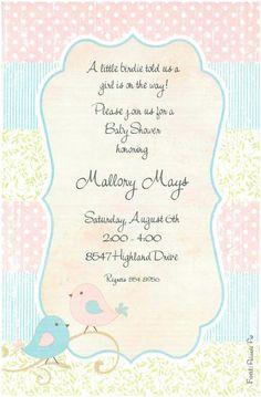 Love Birds Baby Shower Invitation Printable You Print Digital