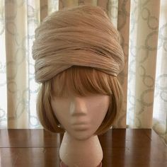 Christian Dior Off-White Straw-Wrapped Turban Ladies Hat 1960's by PurpleIrisVintage on Etsy