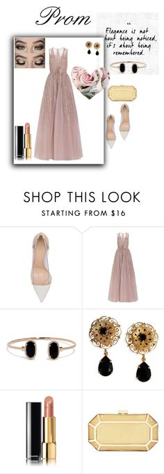 """""""Prom #1"""" by aranzasc1 on Polyvore featuring Gianvito Rossi, Elie Saab, Lulu*s, Dolce&Gabbana, Chanel and BCBGMAXAZRIA"""
