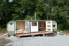 George Clarke shows off his Amazing Spaces - converted caravan