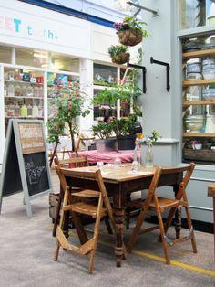 Top table at Cornercopia Deli in Brixton Market