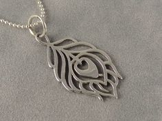 Sterling Silver Peacock Charm Necklace by sunflowerjewelry on Etsy, $29.00