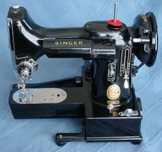 Singer Featherweight 222 Open Arm Sewing Machine - 1959 -- with bed removed for free arm sewing