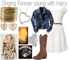 """Singing Forever young with Harry"" by onedoutfits269 ❤ liked on Polyvore"