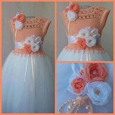 Vestido tamanho 4 anos, feito com linha 100% algodão, mais pode ser feito com qualquer linha em qu...