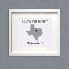 Hey, I found this really awesome Etsy listing at https://www.etsy.com/listing/182420002/tarleton-state-university-stephenville