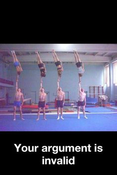 cheerleading is easy? cheerleading isnt a sport? I wish I had the upper body strength to do these partner stunts.