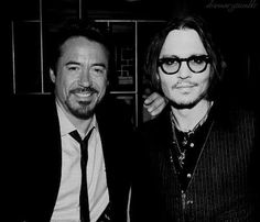 Robert Downey Jr. & Johnny Depp