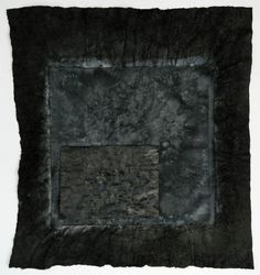 Abigail Stern Fanhonghua 1 (Crocus 1), 2013: Chinese ink, gouache, raw linen, and photograph on Xuan. (27 1/2 x 25 1/2 inches) (Collection of Jacques Pierre; Golbey, France)
