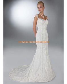 2013 Elegante Brautkleider aus Satin im Meerjungfrauenstil Herz-Ausschnitt