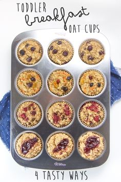 These allergy-friendly Toddler Breakfast Oat Cups are about to make your crazy mornings a whole lot easier (and more delicious)! They are made with wholesome ingredients such as oats, bananas, coconut oil and maple syrup and are refined sugar-free, dai Toddler Finger Foods, Healthy Finger Foods, Toddler Food, Toddler Breakfast Ideas, Baby Finger, Baby Food Recipes, Whole Food Recipes, Muffin Recipes, Food Baby