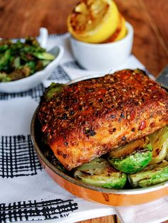 Cajun Salmon w/ Roasted Brussels Sprouts