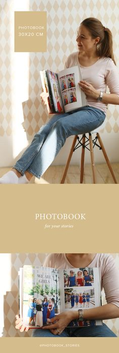 Photobook in children's room beige vox chair. Photobook for your stories.