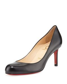 Simple Leather Red Sole Pump, Black by Christian Louboutin at Neiman Marcus. Another good work shoe.