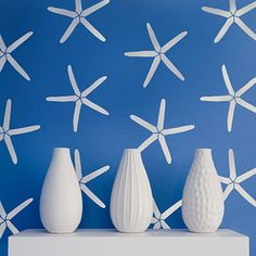 NEW! - Starfish Allover Stencil Pattern - reusable stencil patterns for walls just like wallpaper - DIY decor