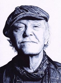 Tribute drawing to the passing of Danish musician and legend Kim Larsen. I did this drawing using a single black ballpoint pen. I hope you guys like it.