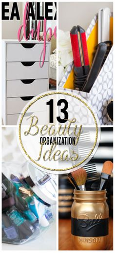 Check out these 13 amazing beauty storage organization ideas! Get all the tips, tricks, & instructions you need to get your beauty products organized!!