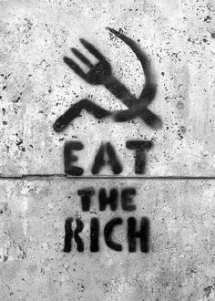 Creative Happiness, Photo, External, Link, and Street image ideas & inspiration on Designspiration Protest Kunst, Protest Art, Protest Posters, Stomach Ache Food, Eat The Rich, Urbane Kunst, Bansky, Political Art, Political Posters