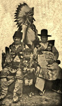 Four generations of the White Cloud family - Otoe - 1916