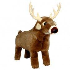 Whitetail Deer Plush Footstool