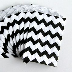 Itty Bitty Black Chevron Stripe Bags ,