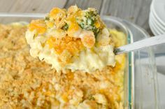 My family LOVE'S this Chicken Broccoli Rice Casserole! It's one of those dishes that is so perfect in itspure, wholesome, simplicity that they just can't get enough of it! Chicken, rice, broccoli, all baked in a super, super, creamy, easy sauce, then topped off with lots of gooey cheese and buttery bread crumbs….. Now that's …