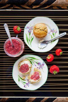 Hemsley + Hemsley: Quinoa Scones & Strawberry Chia Jam (Vogue.com UK)