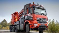 Paul Nutzfahrzeuge develops and produces the all-new special chassis for the Biber Power Truck of the Eschlböck Maschinenfabrik GmbH. Heavy Duty Trucks, Big Rig Trucks, Heavy Truck, Rc Trucks, Cool Trucks, Pickup Trucks, Semi Trucks, Mercedes G Wagon, Mercedes Maybach