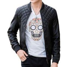 Leather Bomber Jacket - Bomber Jackets - affordable menswear