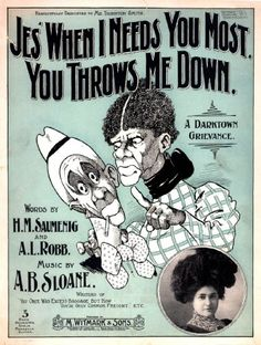 WONDERFUL A4 GLOSSY PRINT - 'JES' WHEN I NEEDS YOU MOST YOU THROWS ME DOWN' (A4 PRINTS - VINTAGE SHEET MUSIC / SONG BOOK COVERS) by Unknown http://www.amazon.co.uk/dp/B004ITJ01O/ref=cm_sw_r_pi_dp_wm2ovb0238S5W