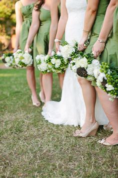 dc8e3edec4d Traditional Meets Rustic Country Club Wedding. Mint Green Bridesmaid DressesColored  ...