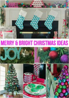 Love the idea of merry and bright Christmas decorations, especially the ornament tree and reindeer pillow from @overstock! #spon