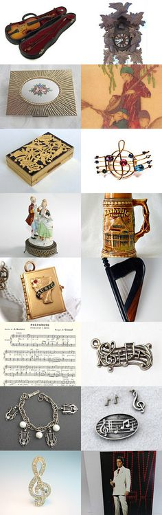 The Sound of Music #voguet. Lovely Beautiful Music from The Vintage Vogue Team. Curator: Lana Leuschen from https://www.etsy.com/shop/ravished