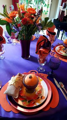 Carnival Of Color Tablescape | Life and Linda