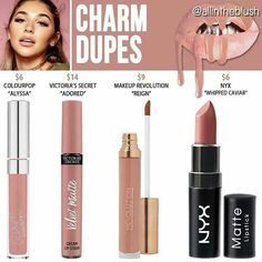 Kylie Cosmetics Candy K Liquid Lipstick Dupes - The World of Makeup Beauty Make-up, Beauty Dupes, Beauty Brushes, Natural Beauty, Concealer, Make Up Brush, Face Palette, Blush Dupes, Nyx Lipstick