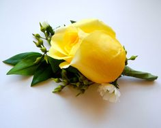 yellow rose corsage - for memorial table
