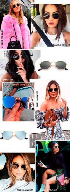 O óculos de sol que não sai do look das fashionistas. Rayban ... dc8d7e8059