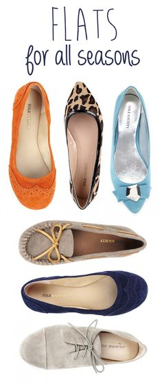 Flats for All Seasons! Shoes can make or break an outfit...