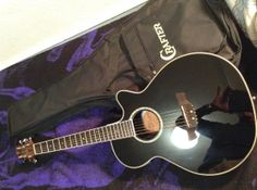Crafter FX550 Series Guitar NOS Black w solid by WMcFlameworks, $295.00