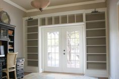 Billy-Bookcase-Built-in-French-Doors - The Accent Piece