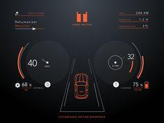 Day 034 - Car Interface Headup display 디자인 할때 참고해야겠습니다 전반적으로 심플하면서 필요한 정보들을 놓치지 않고 알기쉽게 보여주는것같습니다