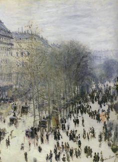 A FAVORITE of Claude Monet (Boulevard des Capucines, Claude Monet, 1873-74)